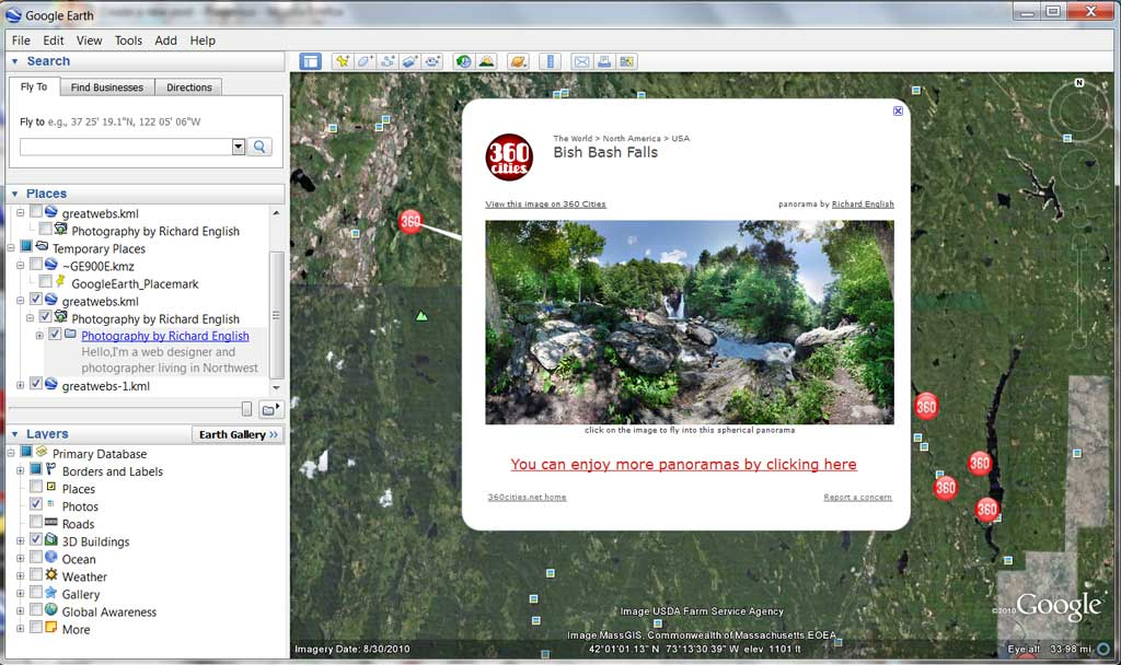 Panorama Photography Now on Google Earth